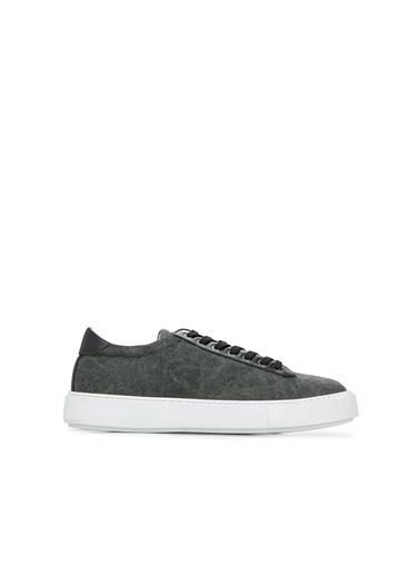 Divarese Divarese 5025120 Bağcıklı Desenli Erkek Ayakkabı Siyah